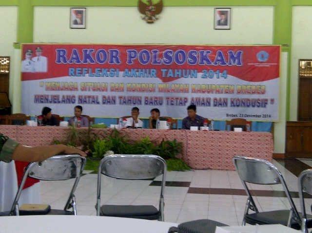 Rakor Polsoskam Refleksi Akhir Tahun 2014 Kabupaten Brebes