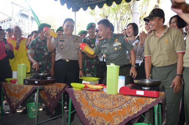Korem 084/BJ, Polrestabes Surabaya, Pemkot Surabaya & Masyarakat Guyub Olah Raga Bersama