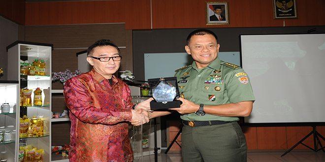 Kasad dan Para Pangkotama Serta Danrem Kunjungi PT. Wilmar Nabati Indonesia