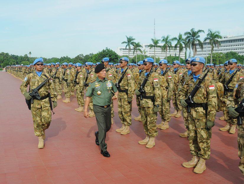 Panglima TNI Berangkatkan 1.169 Prajurit TNI ke Lebanon