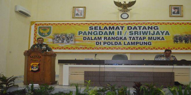 Pangdam II/Sriwijaya Kunjungi Polda Lampung