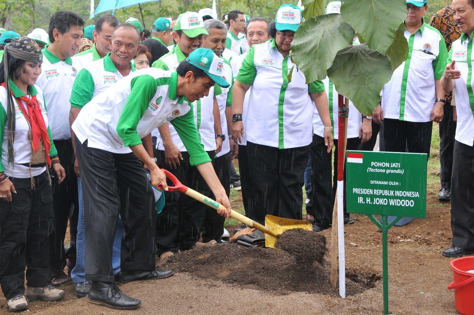 PRESIDEN REPUBLIK INDONESIA PIMPIN PENANAMAN 1 MILYAR POHON DALAM RANGKA HARI MENANAN POHON INDONESIA