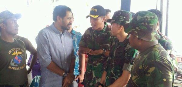 Wagub Kunjungi Dapur Lapangan Bekangdam IM Banjir Aceh Utara