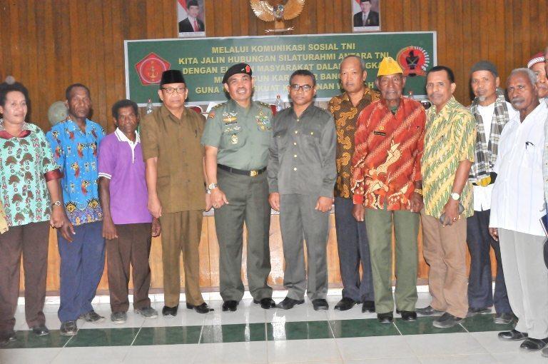 KOREM 171/PVT SELENGGARAKAN KEGIATAN KOMUNIKASI SOSIAL TNI BERSAMA ELEMEN MASYARAKAT TAHUN 2014