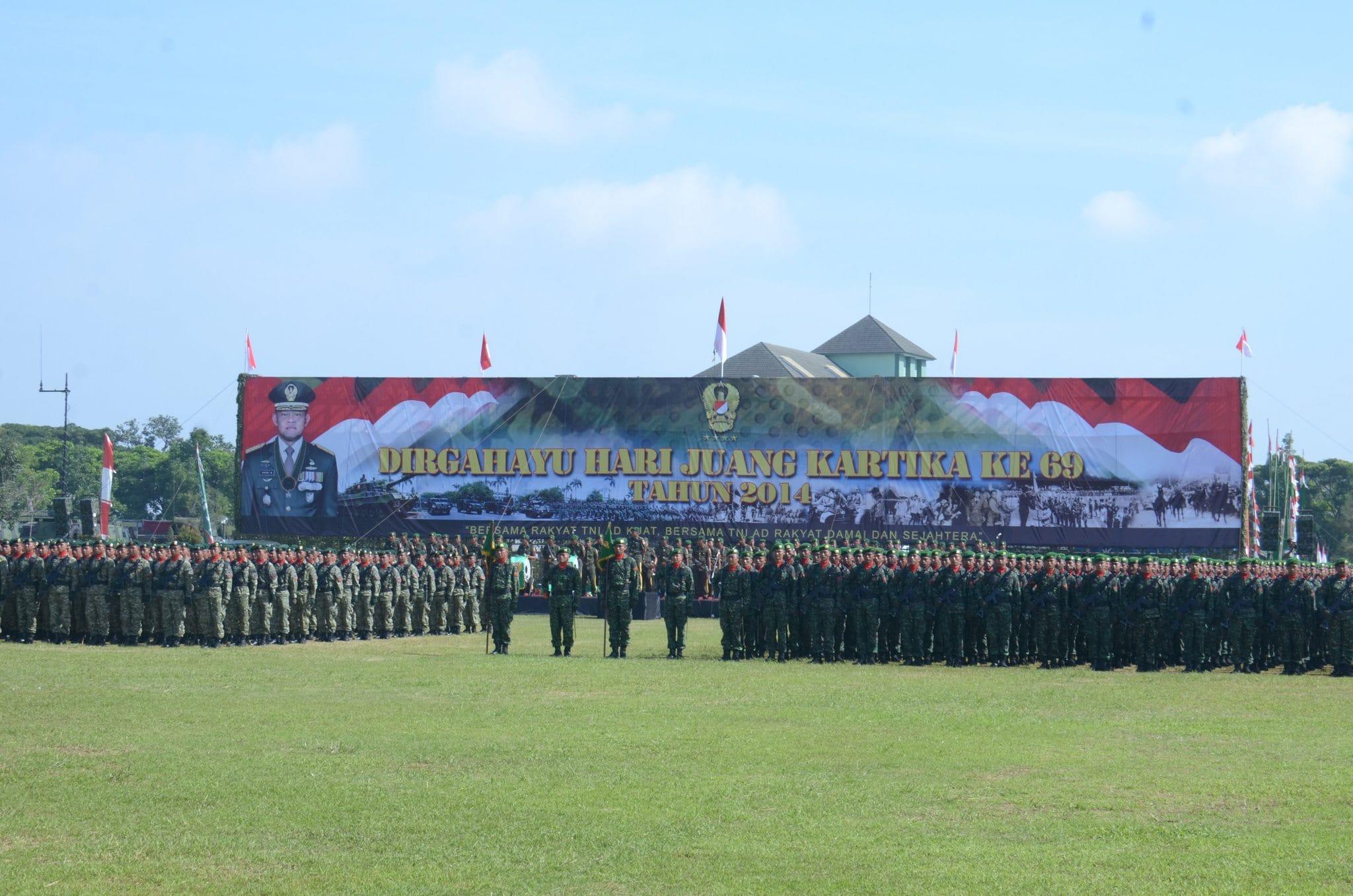 SYUKURAN HARI JUANG KARTIKA TNI AD KE-69 15 DESEMBER 2014