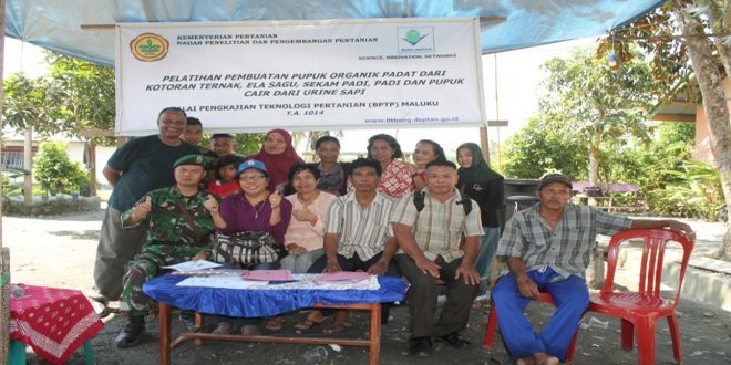 Satgas BKO Yonarmed 13 dan Litbang Ambon Gelar Pelatihan Pertanian