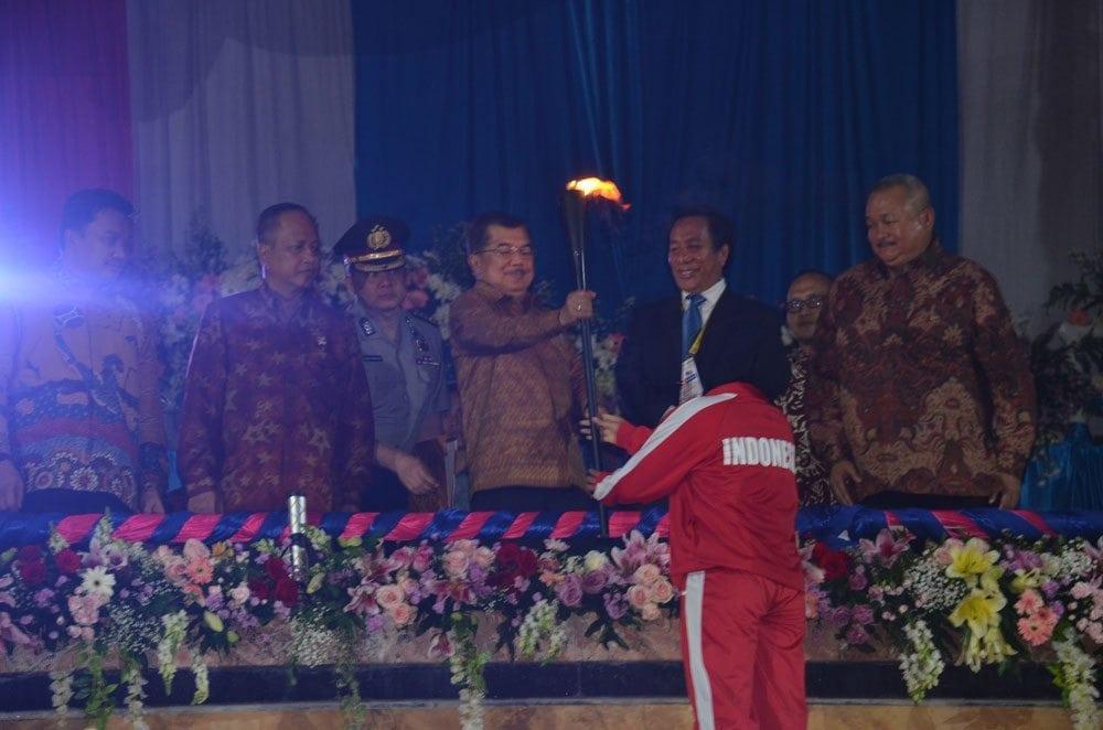 KOREM 044/GAPO AMANKAN WAPRES BUKA PEKA OLAHRAGA MAHASISWA ASEAN KE-17 TAHUN 2014 DI PALEMBANG