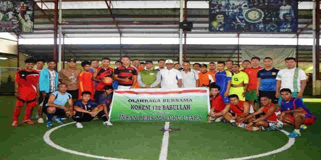 Olahraga Bersama Korem Dengan Insan Pers