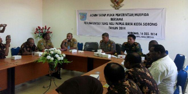 Acara Tatap Muka Bersama Forum Lintas Suku Asli Papua Sesorong Raya