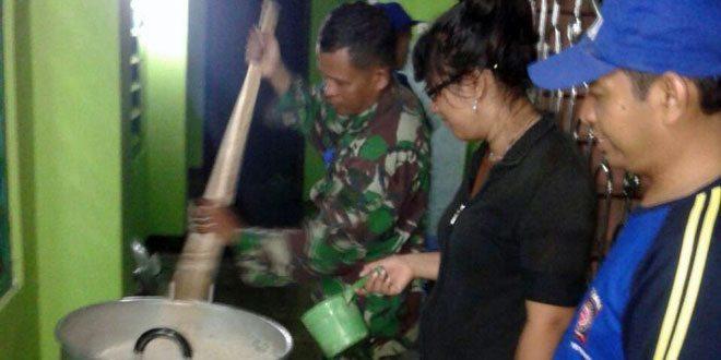 Koramil 20/Buayan Menggelar Dapur Umum Guna Mengatasi Kesulitan Rakyat