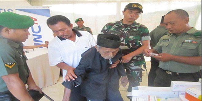Koramil 0811/01 Kota Tuban Gandeng MNC TV Gelar Pengobatan Gratis