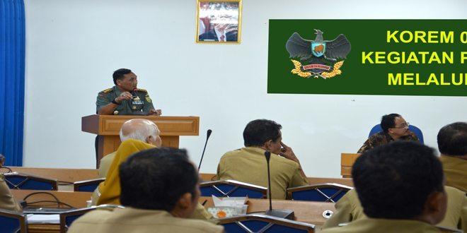 Danrem 043/Gatam : Korem 043/Gatam Beserta Jajaran Siap Mendukung Swasembada Pangan di Wilayah Provinsi Lampung