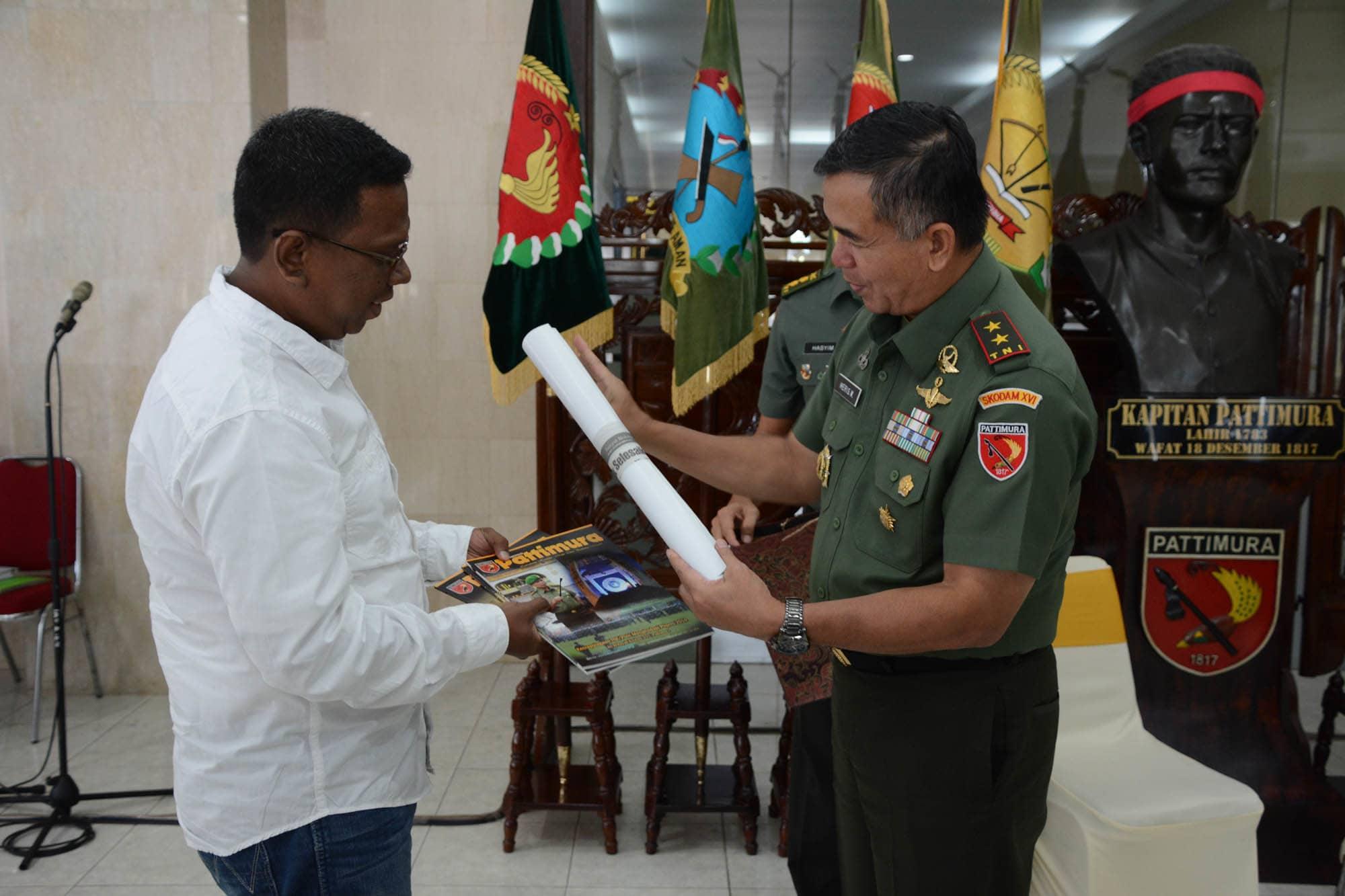 """""""Pangdam XVI/Pattimura berpamitan kepada Media pers Maluku"""""""