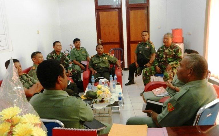 Kodim 1704/Sorong Bekerjasama Dengan Dinas Pertanian Kabupaten Sorong Gelar Rapat Koordinasi Ketahanan Pangan