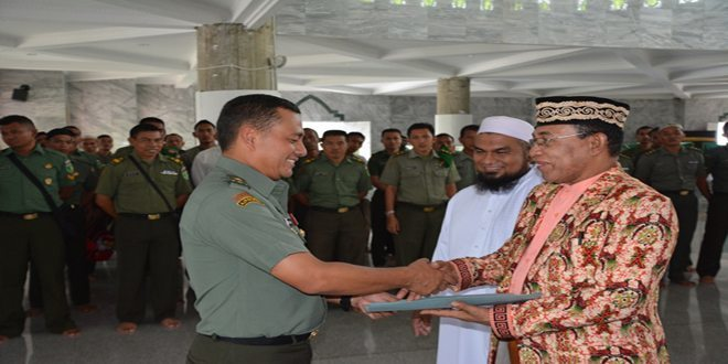 Kasdam XVII/Cenderawasih Menghadiri Acara Peringatan Maulid Nabi Muhammad SAW Tahun 1436 H/2015