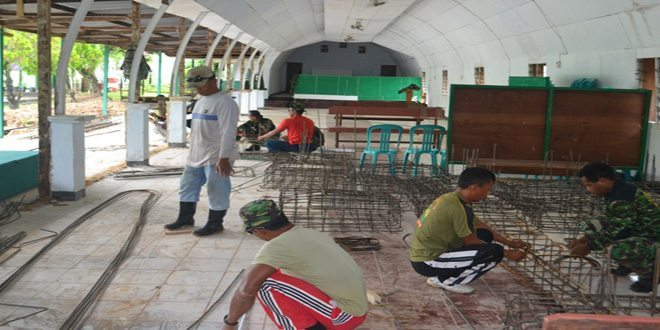 Perehaban Dan Pembangunan Aula Makodim 1704/Sorong Sudah Mencapai Hasil 20%