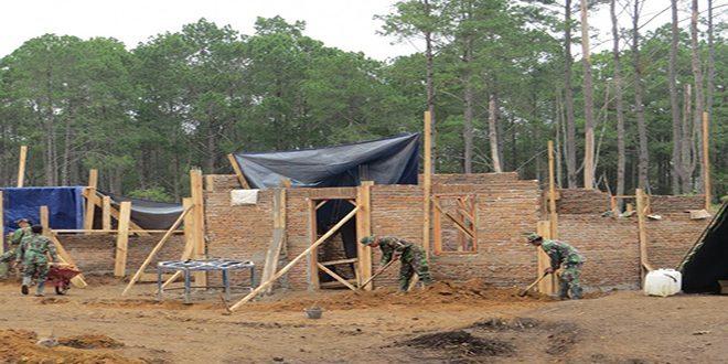 Prajurit Selesai Bangun 50 Rumah Untuk Pengungsi Sinabung