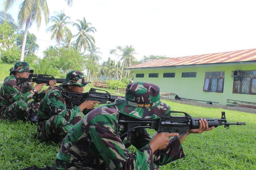 Prajurit Yonif 113/Jaya Sakti Latihan Acu Bidik