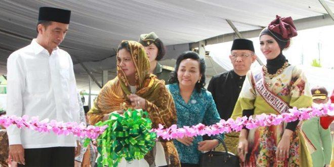 Presiden Jokowi Resmikan Majid Raya Mujahidin Pontianak