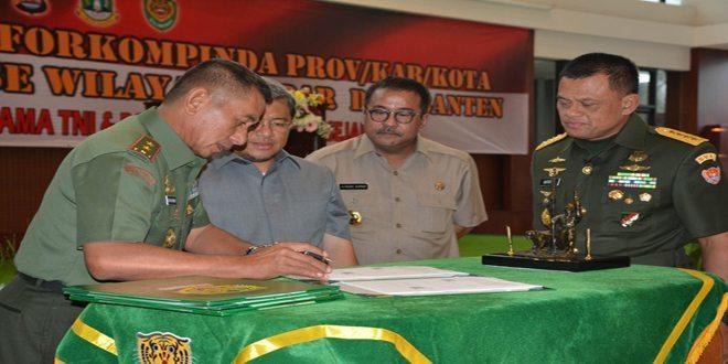 Kasad Silaturahmi Dengan Forkopimda Jabar dan Banten