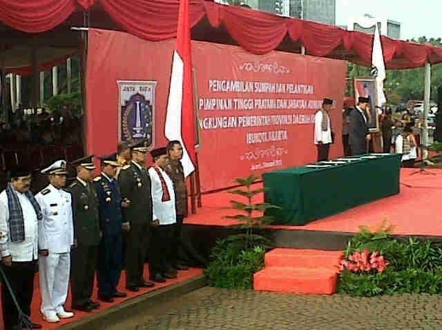 Kasdam Jaya Hadiri Pelantikan Pejabat Tinggi Pemprov DKI