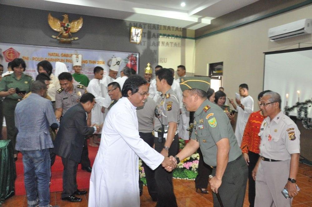 DANREM 044/GAPO ADAKAN NATAL GABUNGAN TNI-POLRI GARNIZUN PALEMBANG TAHUN 2014