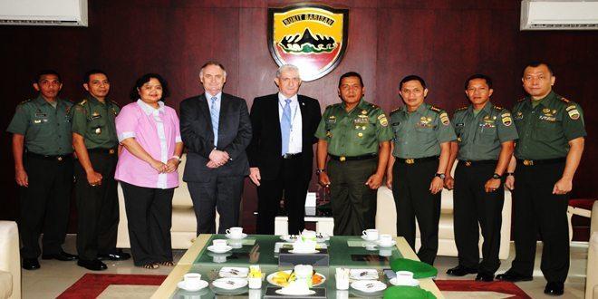 Kodam I/BB dan Chief Security Adviser United Nation Departemen of State and Security PBB Kerjasama Mengatasi Bencana Alam