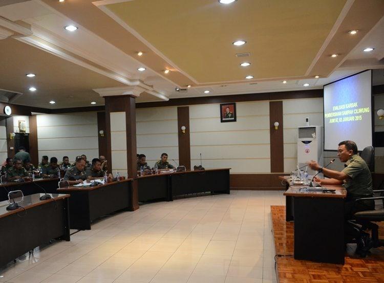 Kodam Jaya Gelar Rapat Evaluasi Ciliwung