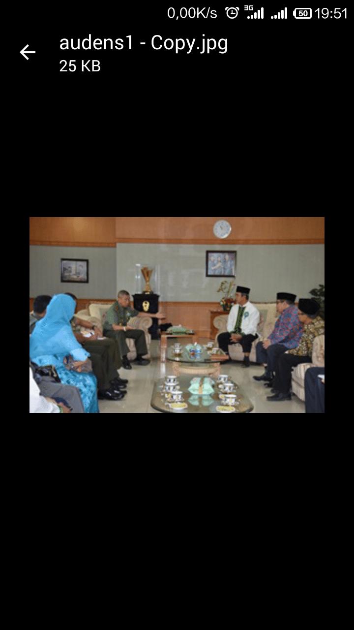 Ketua Muhammadya Melakukan Audensi dengan Pangdam VII/Wrb