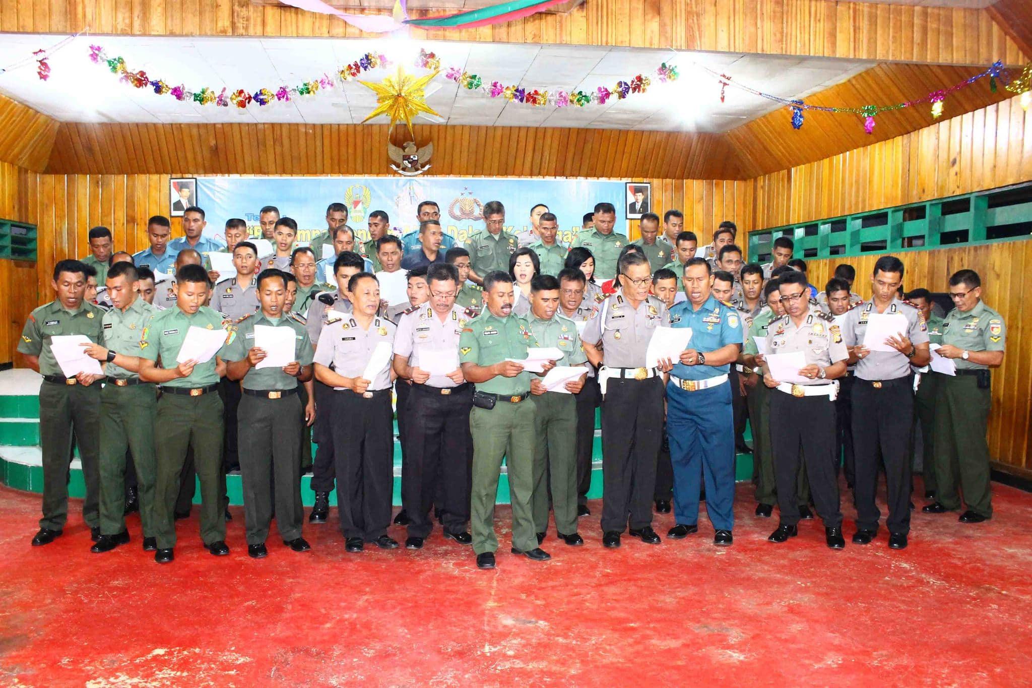 Dandim 1305/BT Prakarsai Natal Bersama TNI-Polri
