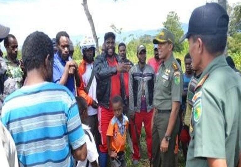 Kunjungan Kerja Dandim 1702/JWY Ke Distrik Wouma Guna Meninjau Pelaksanaan Kegiatan Ketahanan Pangan