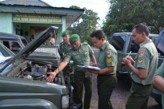 Pemeriksaan Kendaraan Korem 142/Tatag
