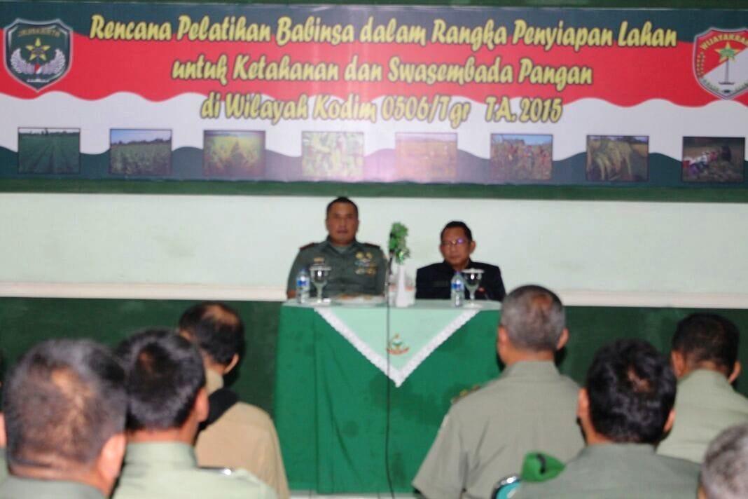Pelatihan Ketahanan Pangan Kodim 0506/Tangerang