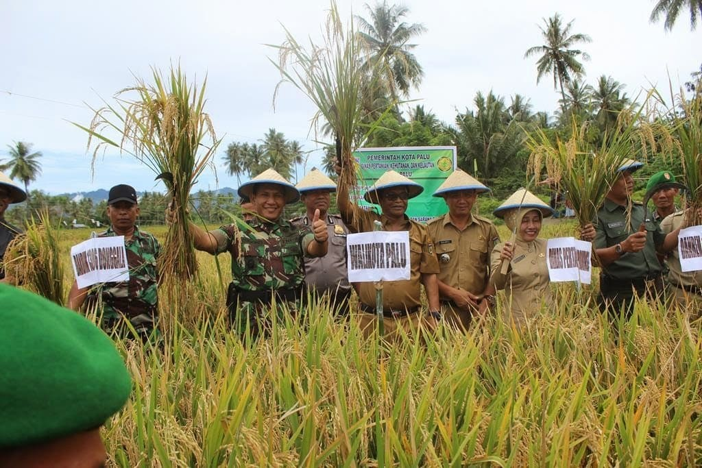 Kegiatan Pencanangan Gerakan Perbaikan Irigasi (PGPI) tingkat Kota Palu dan Panen Perdana Padi S.R.I