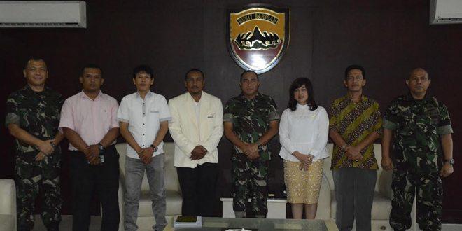 Pangdam I/BB Terima Audiensi Perhimpunan Universal Taekwondo Indonesia Profesional Sumatera Utara
