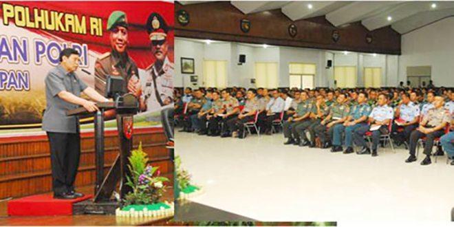 Menko Polhukam Berikan Pengarahan Kepada Perwira TNI–Polri se Balikpapan