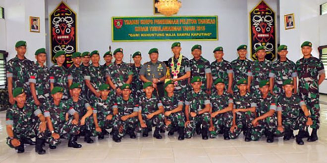 Pangdam Sambut Peleton Tangkas
