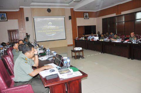 Pembukaan Kegiatan Asistensi Penyusunan Rentinkon Kotama Ops Di Makodam VI/Mlw