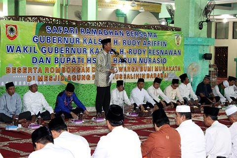 Dandim 1002/Brb Safari Ramadhan Bersama Gubenur Kalsel