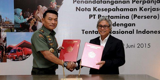 TNI Perpanjang MoU dengan PT Pertamina
