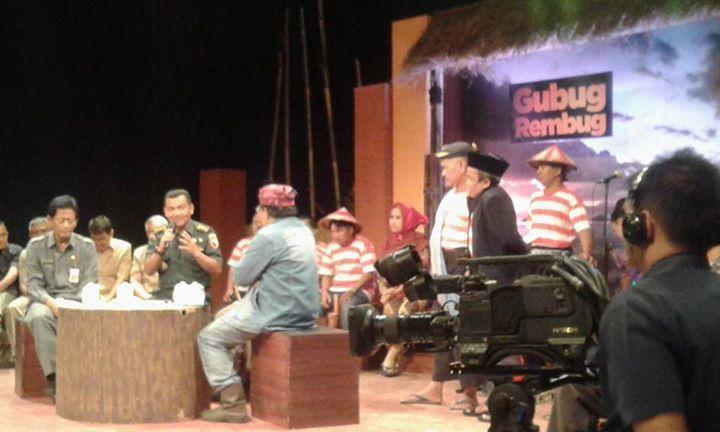 Aster Kasdam V Brawijaya Letkol Kav Sugiyono Sebagai Nara Sumber di salah satu acara tv swasta 1