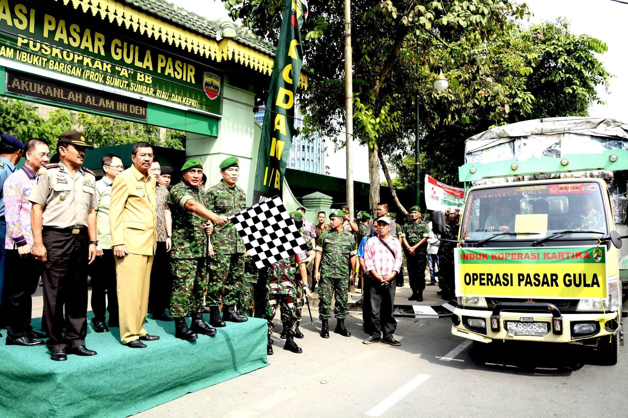 Pangdam I/Bb Lepas Operasi Pasar Gula Pasir