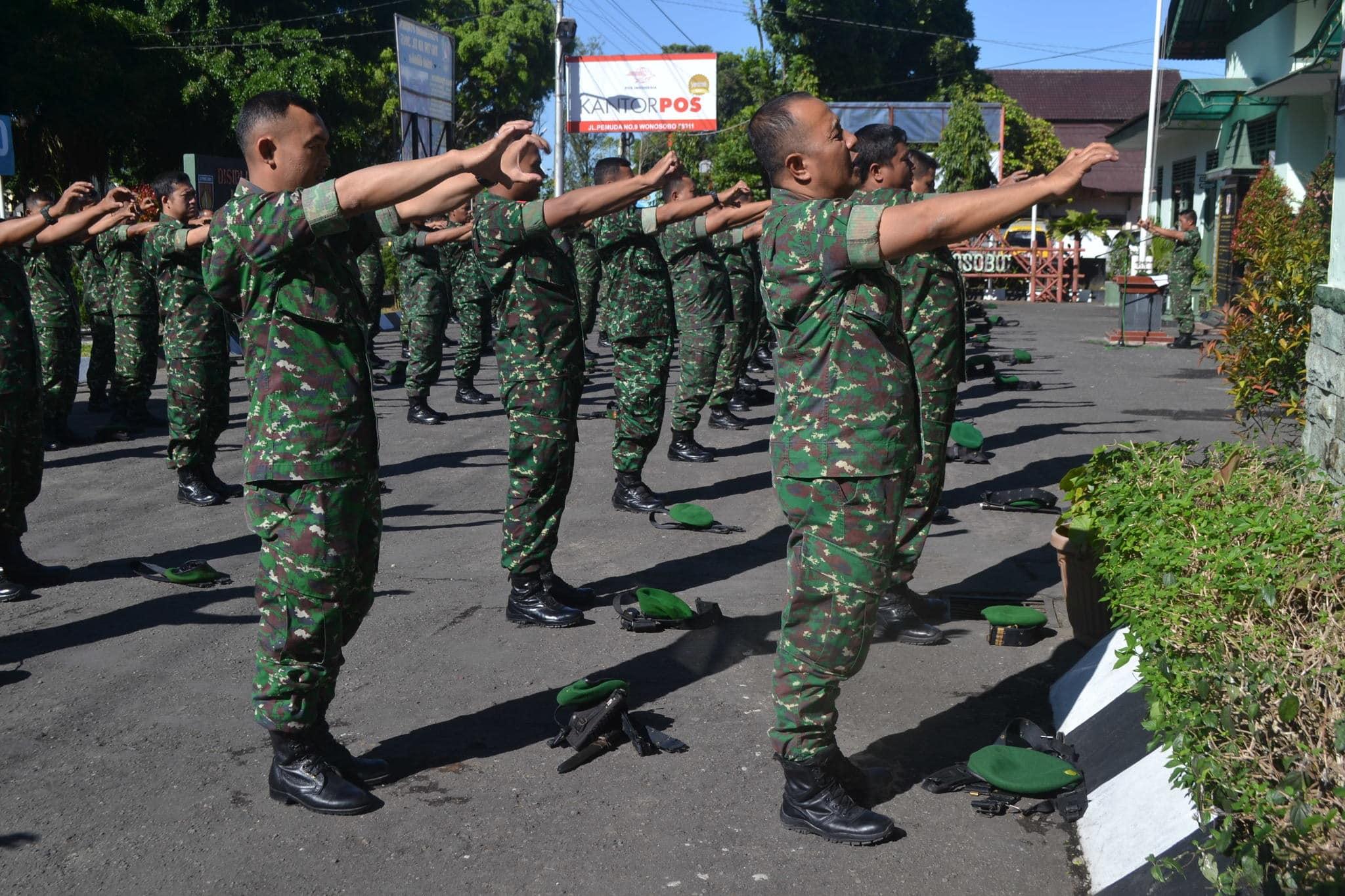 Komando Distrik Militer 0707 Laksanakan Senam Winchu