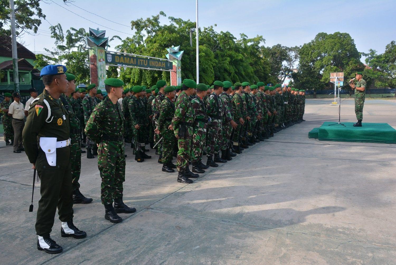 Kasrem 011/LW Berikan Pengarahan Kepada Prajurit Dan PNS TNI