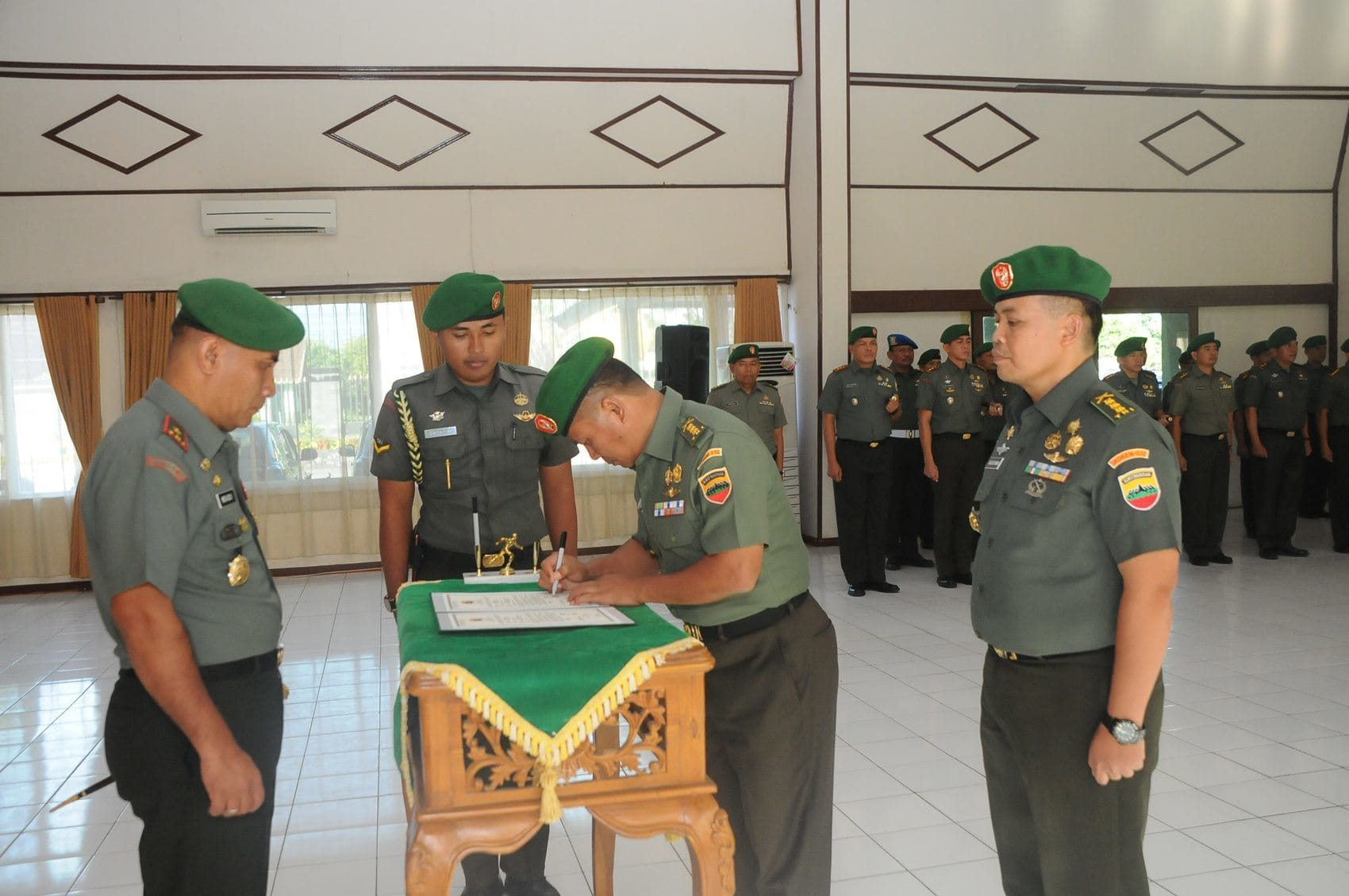 Jabatan Kepala Staf Korem 032/Wbr Diserahterimakan