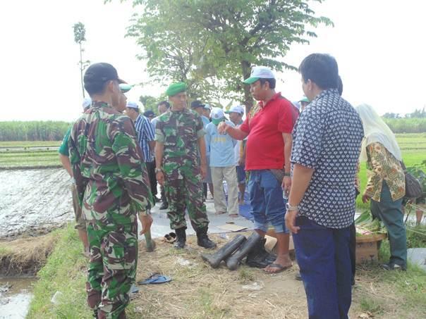 Tak Kenal Hari Libur, Dandim Kediri Terus Gerilya Kunjungi Desa-Desa Kawal Swasembada Pangan