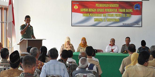 Koramil 11 Mertoyudan Melaksanakan Binkomsos Untuk Kemanunggalan TNI dan Rakyat