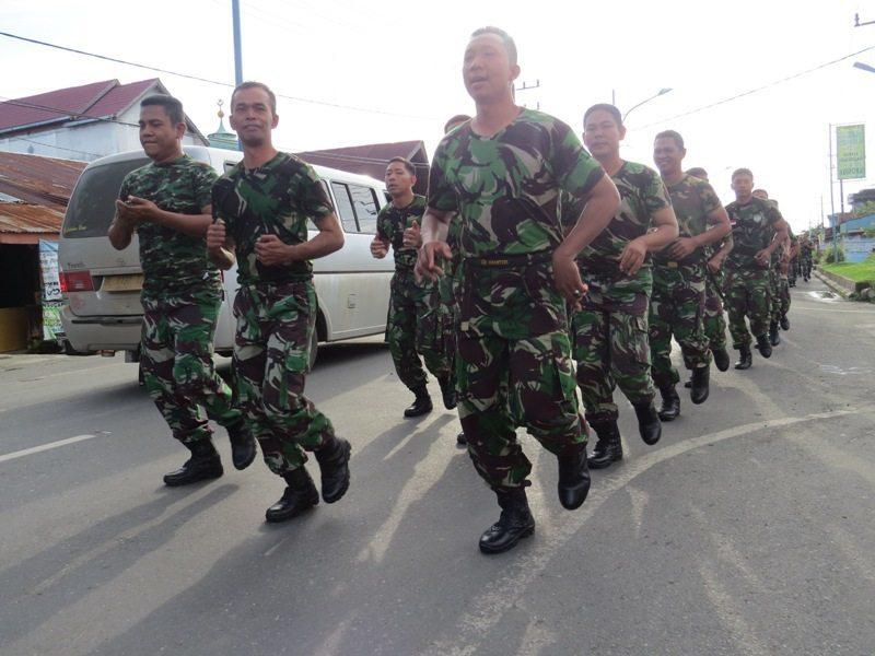 Kodim 0105/Aceh Barat Melaksanakan Latihan Minggu Militer