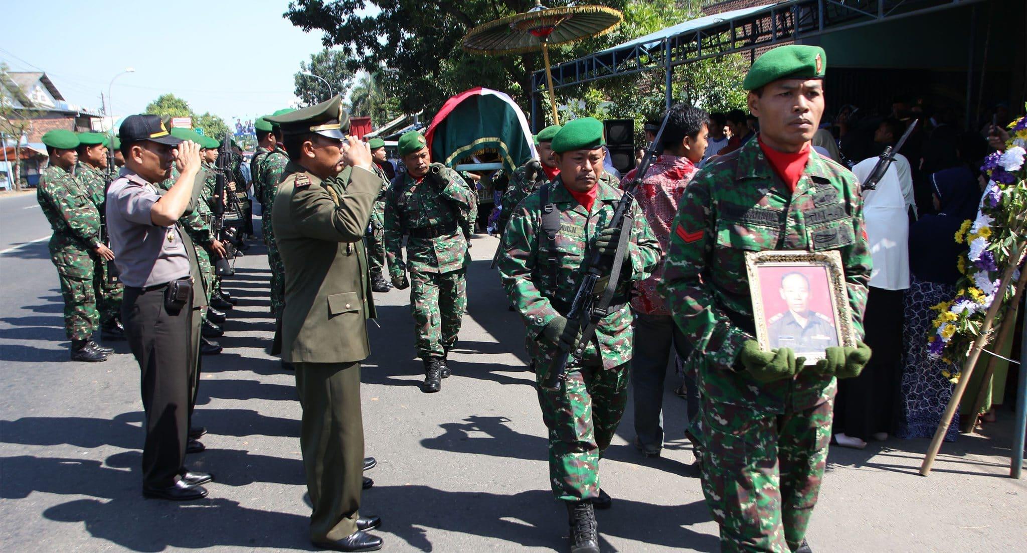 Kodim Kudus Melaksanakan Pemakaman Militer Anggota Pepabri