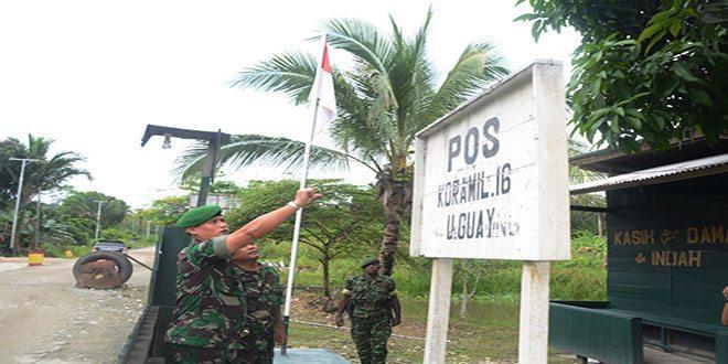 Kunjungan Kerja Danrem 172/PWY Ke Pos Koramil 16/Uguay